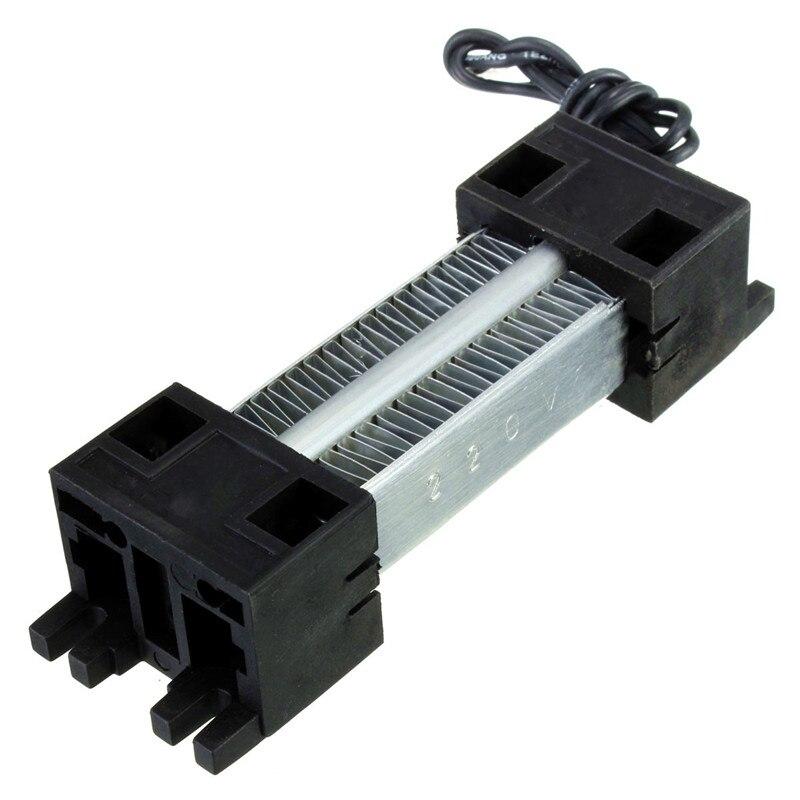 цена на Surface Insulated 100W 220V Ceramic Thermostatic PTC Heating Element Electric Air Heater 11.5 x 3.5cm AC/DC