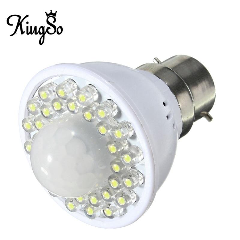 Kingso B22 2W LED Globe with PIR Motion Sensor