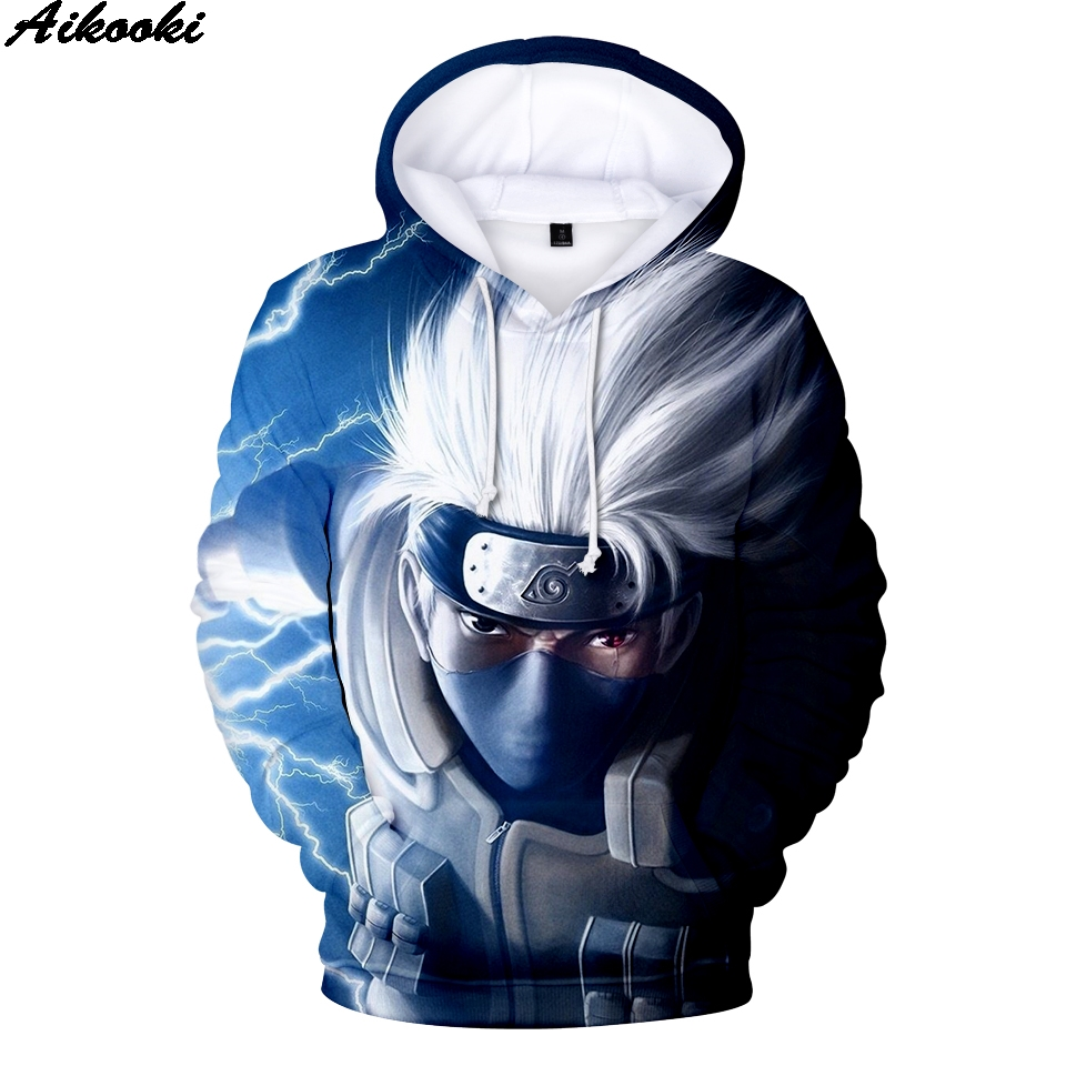 Fashion Anime Naruto Hoodies Men/Women Harajuku Pullover 3D Hoodies Sweatshirts Naruto 3D Hooded Men's Sweatshirt XXS-4XL