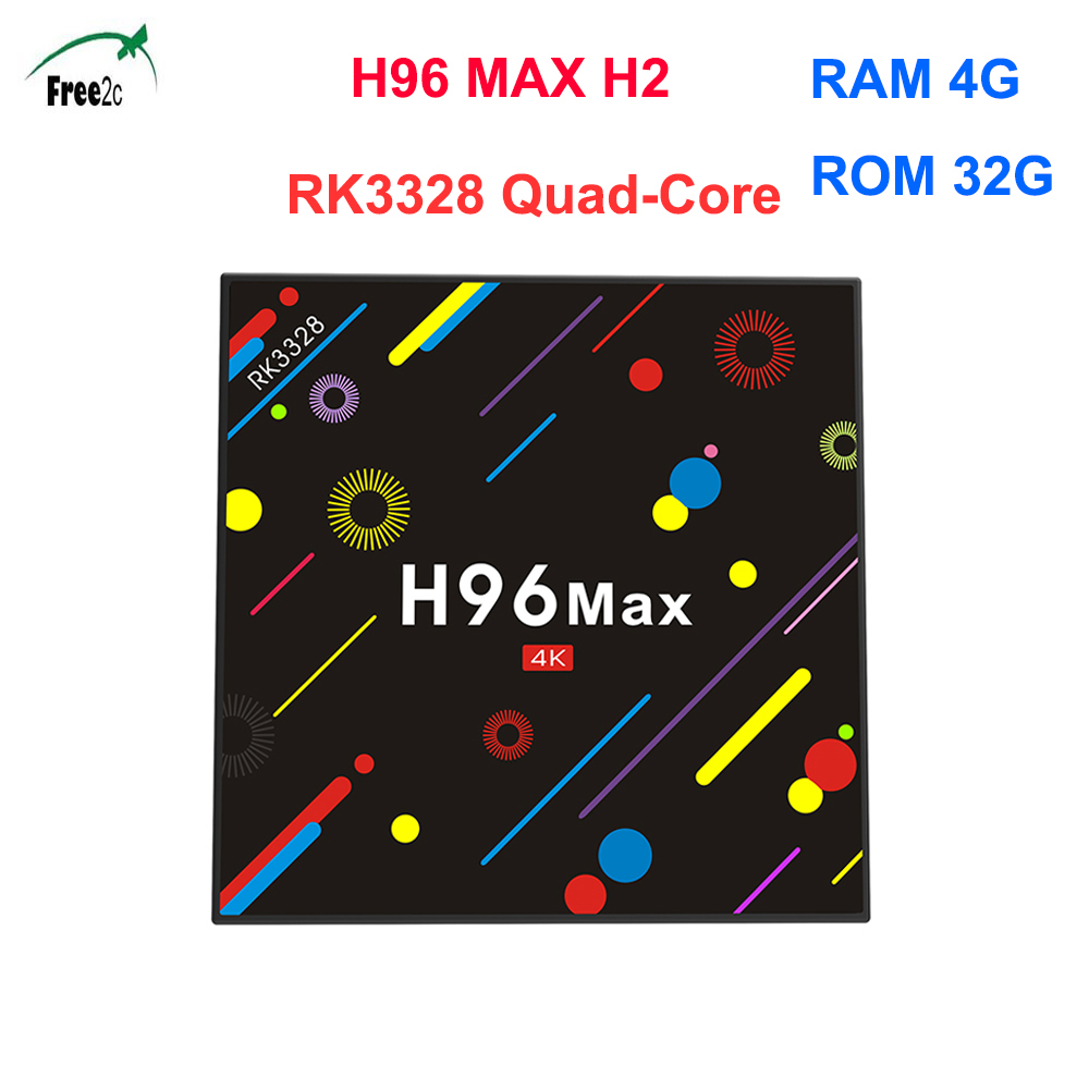 H96 MAX H2 Rockchip PK3288 Quad-core 4G 32G 100 LAN smart Android 7.1 set top tv box support 1 Year 1800+French ItalyEurope IPTV метчики 1 4 32