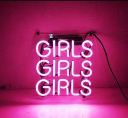 Custom Roze Meisjes Meisjes Meisjes Glas Neon Light Teken Beer Bar