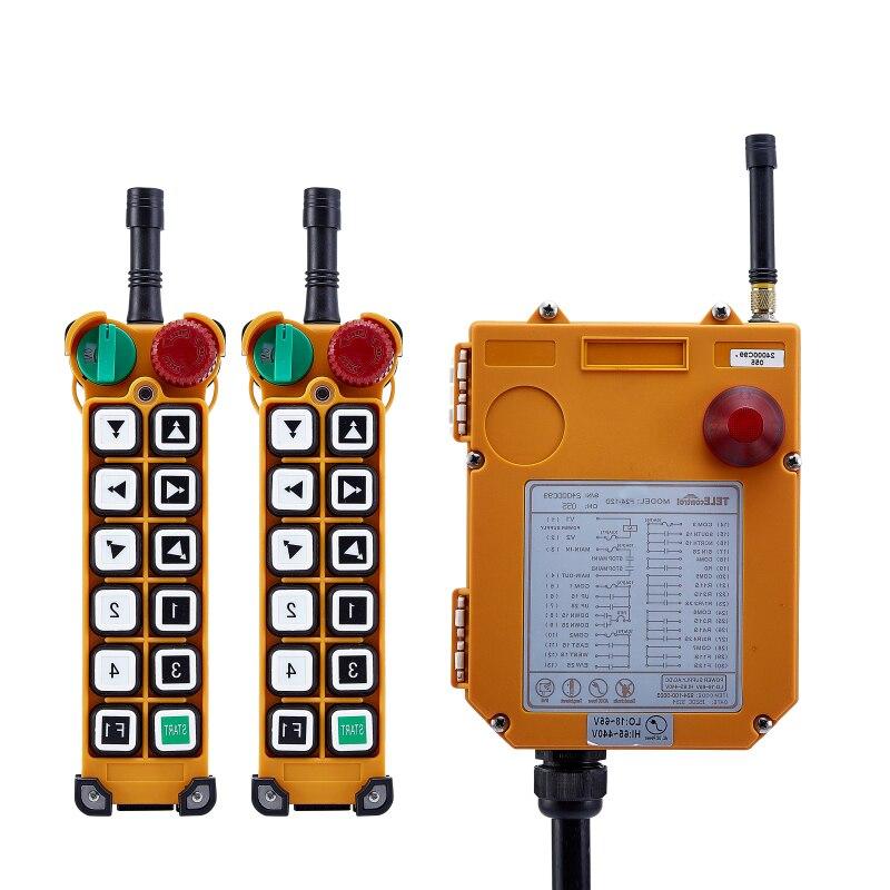 Interrupteur F24-12D pour grue palan 2 transmetteur et 1 récepteur industriel sans fil redio commutateurs de télécommande interrupteur