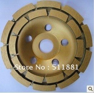 5 ''NCCTEC diamant broyage CUP roue | 125mm meule En Béton | double rangée disque