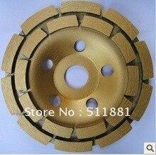 5 »NCCTEC алмазные шлифовальные ЧАШКИ колесо | 125 мм Бетон шлифовальный диск | двухрядные диска