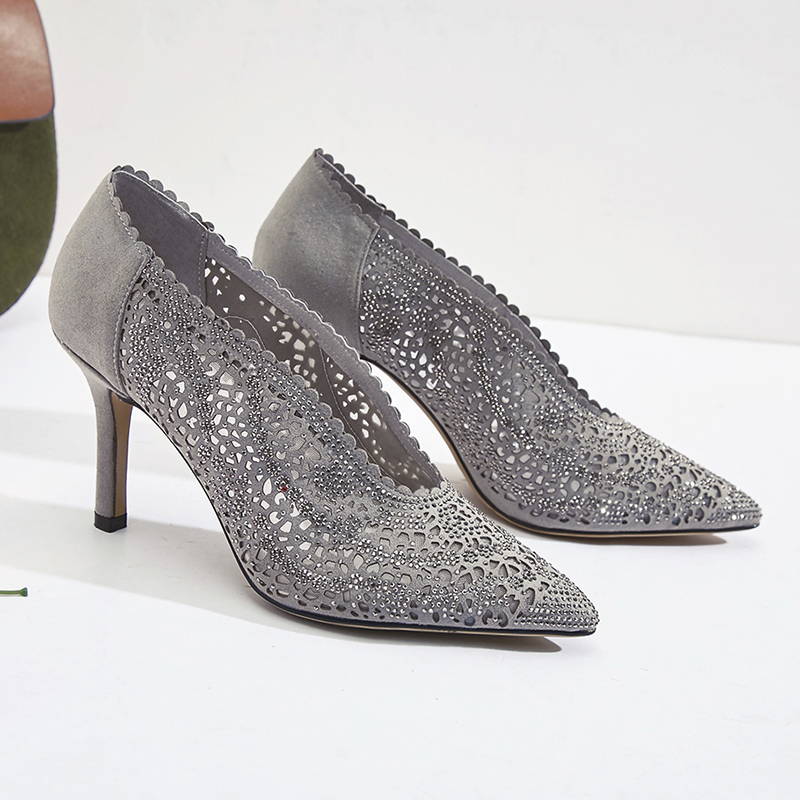 ФОТО Fashion new spring 2017 autumn slip on pointer toe office ladies high thin heels genuine real leather women pumps silver size 4