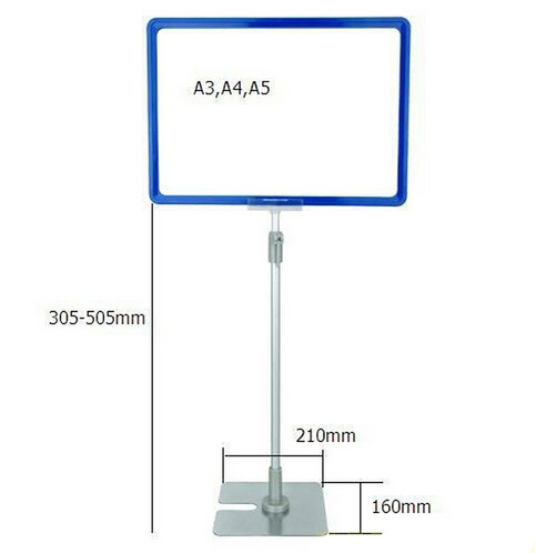 A4 Frame With Pop Price Ticket Tag Sign Advertising Poster Holder