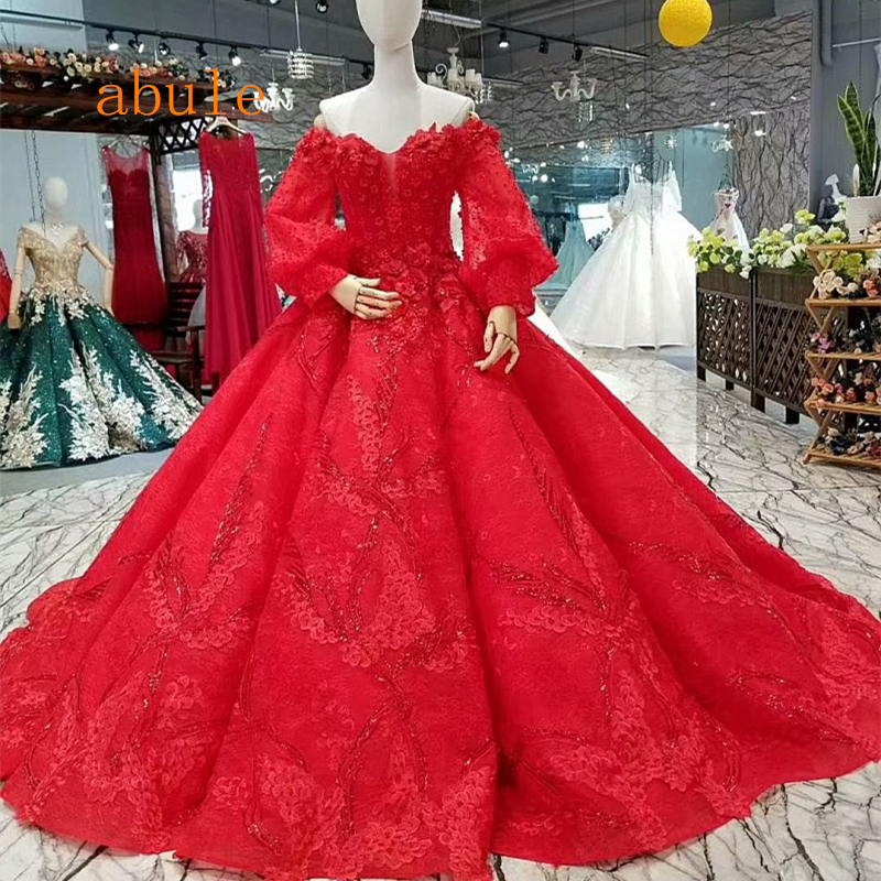 Rode Trouwjurk Kopen.Beste Kopen Luxe Rode Trouwjurk Vintage Baljurk Elegante Bruid