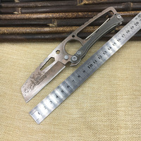 Multifunction Straight Knife With Carabiner Fixed Blade58HRC 7Cr17mov Outdoor Hunting Swiss Knifes Camping Survival Credit Card