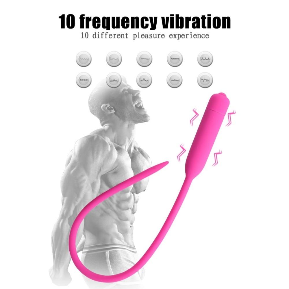Urethral vibrator Urethral plug urine blocking urethral masturbation device prostate massage silica gel for Men in Vibrators from Beauty Health