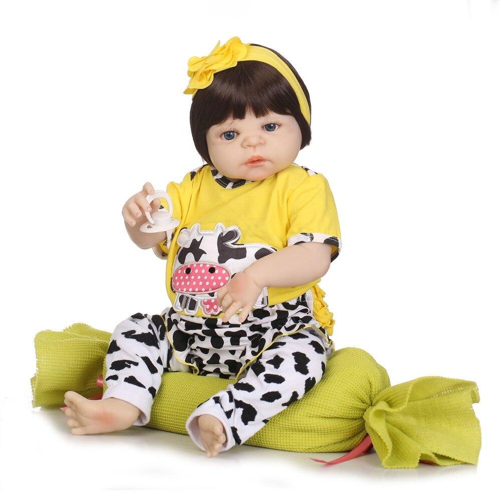 NPKCOLLECTION reborn bonecas handmade Lifelike Reborn Baby Dolls Girls Full Body Vinyl Silicone with Pacifier child