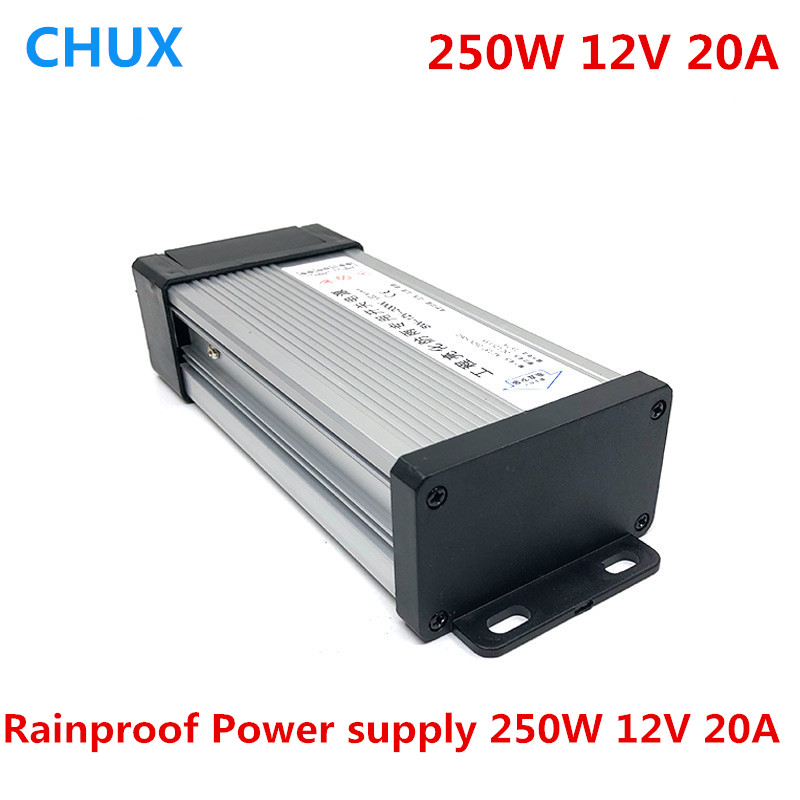 Video Games Consumer Electronics Free Shipping 250w 20a Single Group Power Supply 12 Volt Led Rain Proof Transformer 20a Monitoring Adjustable Industrial Power