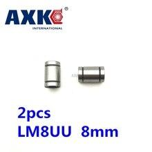 2 шт./лот LM8UU линейная втулка 8 мм линейный шариковый подшипник линейный подшипник 8 мм 3d принтер части LM8 cnc части