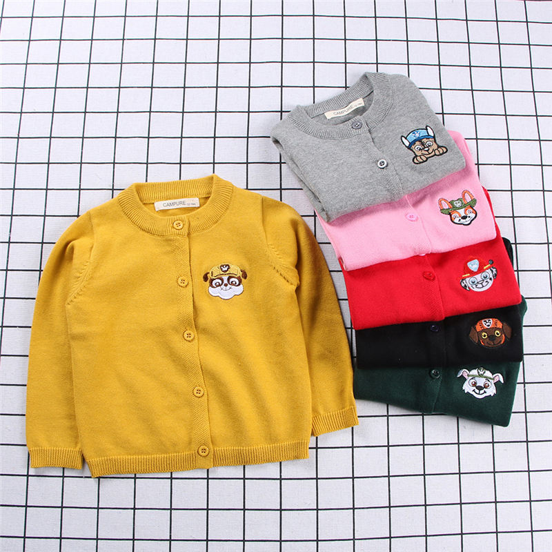 2018 spring summer baby new sweater puppy knit cardigan kids girls sweater boy girl sweater cotton childrens sweater for gils