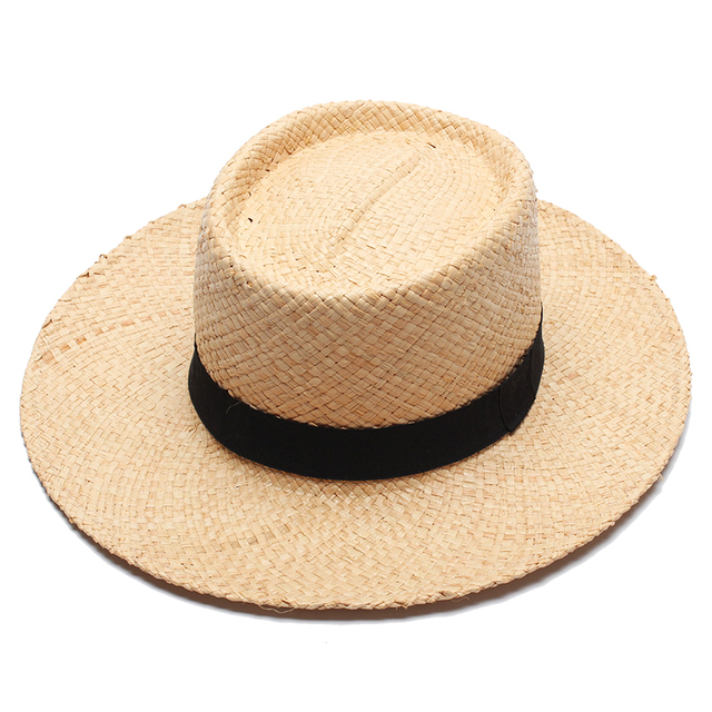 2017 Verano Sombreros de Paja Para Las Mujeres Moda Unisex Hombres Feminino  Chapeu Panamá Beach Sun aee0d6adabf