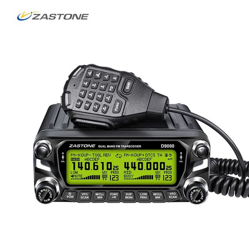 Zastone D9000 Car walkie talkie Radio Station 50W UHF/VHF 136-174/400-520MHz Two way radio Ham HF Transceiver