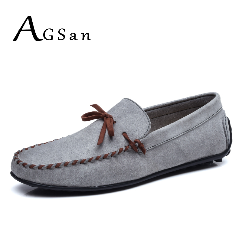 Vintage Land Rover Mens Loafer Driving Moccasin Brown: AGSan Men Loafers Driving Shoes Suede Leather Moccasins