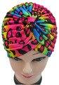 Frete grátis 2016 nova moda colorido do arco-íris Leopard Animal impresso Turban chapéus para mulheres / senhoras