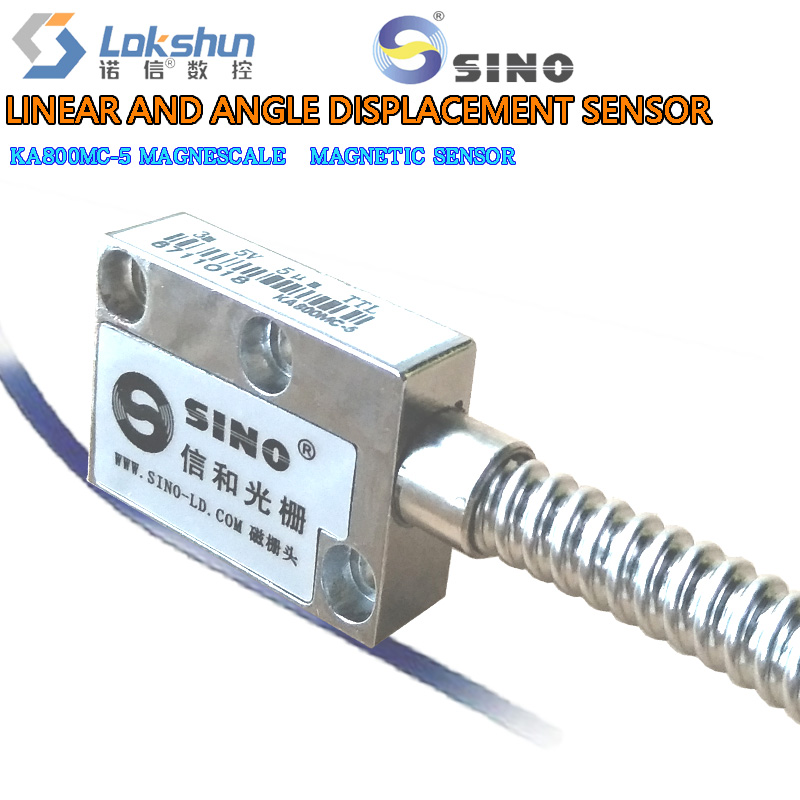 KA800MC series magnetic grating scale magnetic sensor linear displacement sensor resolution 0.005mm precision 0.02mm/ meters high precision linear displacement grating ruler ttl signal measurement distance 50mm 600mm reset precision 1um