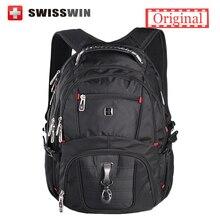 Swissgear morral del ordenador portátil de los hombres de viaje sw8112 mochila impermeable de nylon mochilas escolares para los adolescentes bolso masculino