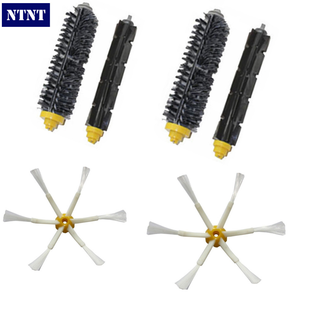 NTNT Free Post New Bristle Flexible Beater Brush 6 arm side brush for Roomba 600 700 595 grey 3 arm side brush