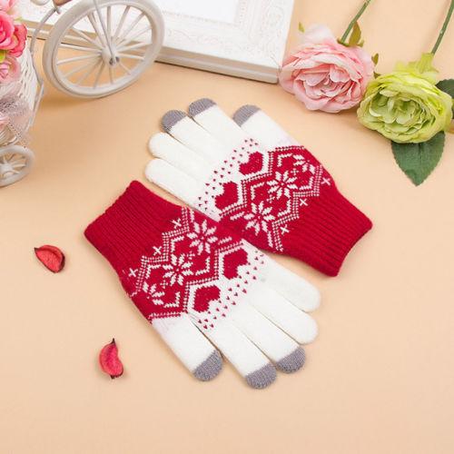Hot Touch Screen Gloves Women Girl Stretch Knit Mittens Winter Warm Gloves NEW