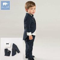 DB8419 dave bella 3 PCS autumn Little gentleman clothing sets baby boys party wedding formal wear children's long sleeve suit