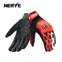 Men Motorcycle Gloves Outdoor Sports Full Finger Riding Protective Armor Real Leather Breathable Gloves Touch Screen