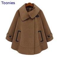 2017 Autumn Winter Coat S European Style High Quality New Cloak Female Lapel Camel Coat Jacket