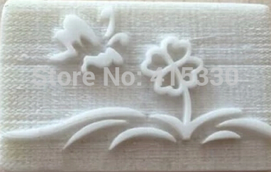 Flower Butterfly Handmade Tree Resin Soap Stamp Seal Soap Mold Mould 5x4cm high quality 2size butterfly flower forming follow board easy magic making template mould for fabric flower design tool