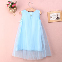 New Children Baby Flower Girl Princess Party Dress Tulle Gown Fancy Dresses 1 7Y