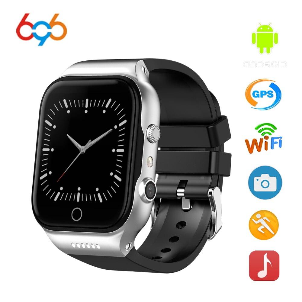 696X89 Android 5.1 Astuto Della Vigilanza MTK6580 16g ROM 1 RAM Uomini Della Vigilanza 3g SIM WiFi Sport per il fitness Macchina Fotografica di GPS Relogio Inteligente PK dm98