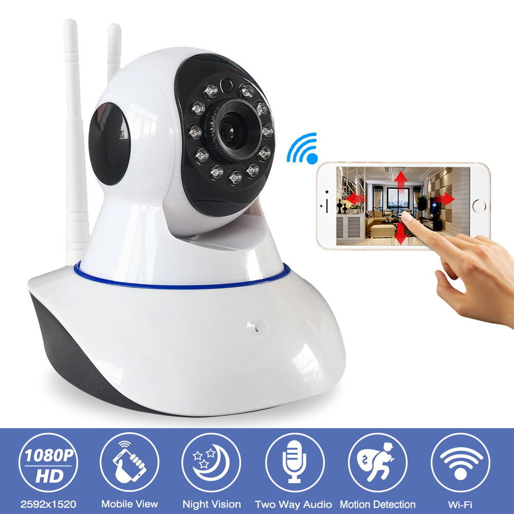 2MP Wireless Security Full HD 1080P IP Camera Wifi Indoor Baby Monitor CCTV Home Surveillance IR Night Vision Audio Recording 2mp 1080p hd wireless intercom wifi ip camera indoor home surveillance system baby monitor