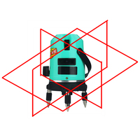 CONBLE 5 laser lines 6 points 360 degrees rotary 635nm auto level Laser Level with outdoor mode receiver and tilt slash OK