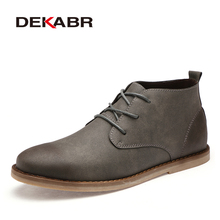 DEKABR Brand Ankle Boots Men 2020 New Pu Leather Lace Up Win