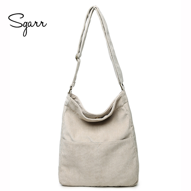 SGARR High Quality Canvas Women Handbags Large Capacity Casual Ladies Shoulder Crossbody Bag Fashion Female Tote Messenger Bags