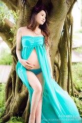 Mode moederschap fotografie props fancy moederschap jurken zwangere kleding maxi chiffon dress fotografie moederschap dress