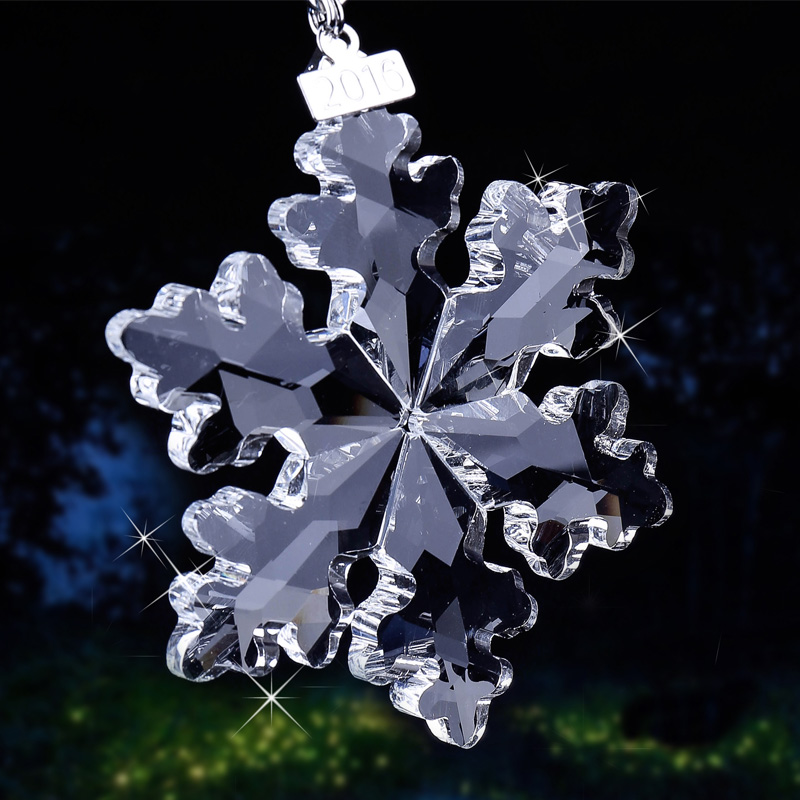 3 Kind Bright Clear/Champagne <font><b>Glass</b></font> Crystal Snowflake Ornaments Hanging on <font><b>Glass</b></font> Craft Christmas Tree Ornaments Lady Favor