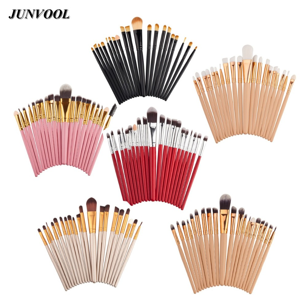 20pcs Eye Makeup Brushes Set Eyeshadow Blending Brush Powder Foundation Eyebrow Lip Eyeliner Brush Cosmetic Tools Mini Colors new 32 pcs makeup brush set powder foundation eyeshadow eyeliner lip cosmetic brushes kit beauty tools fm88