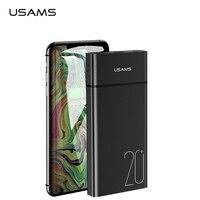 USAMS Universal Dual USB Power bank 20000 mAh bank power Portable phone Charger Powerbank mobile phone charger