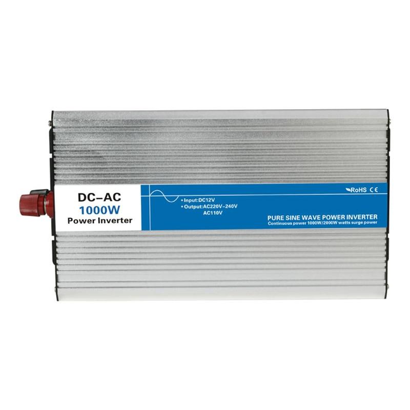 Power 1000W DC Input 12V 24V 48V AC Output 110V 220V Pure Sine Wave off grid