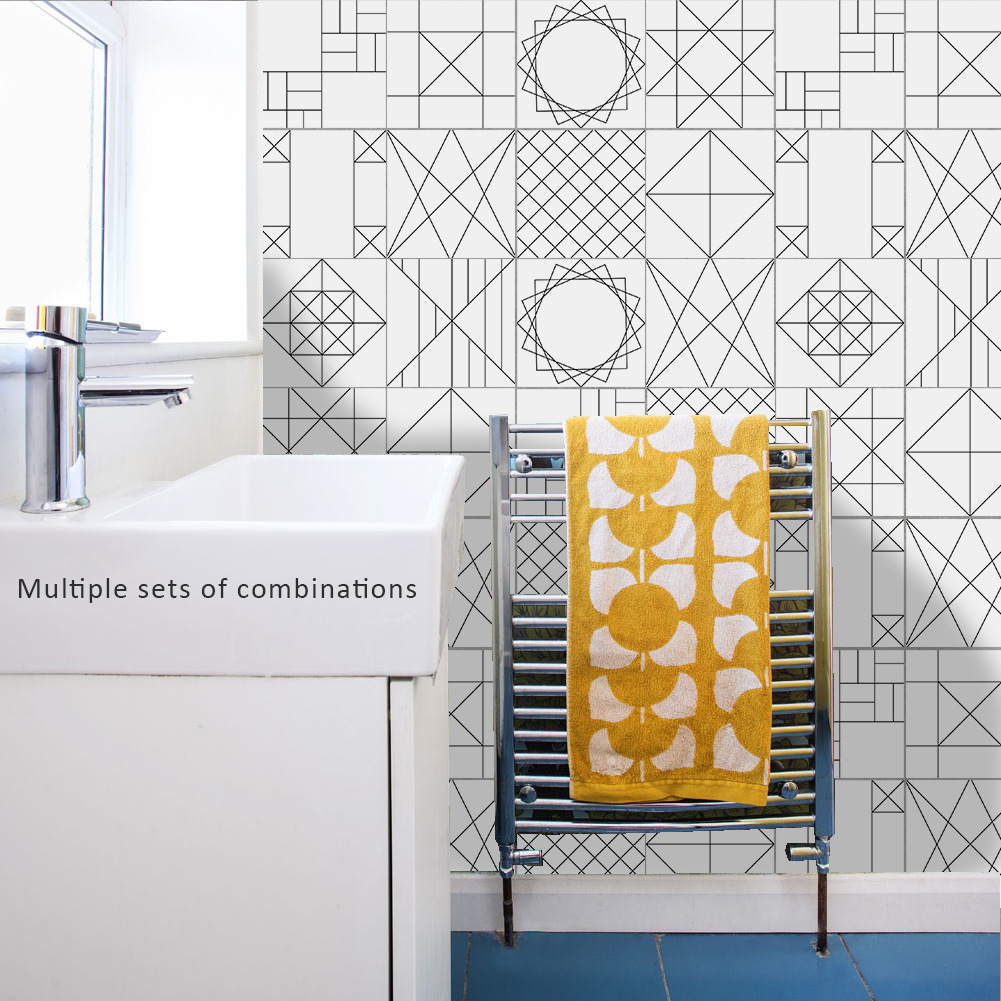 Aliexpress.com : Buy Funlife Geometry Line Tile Stickers