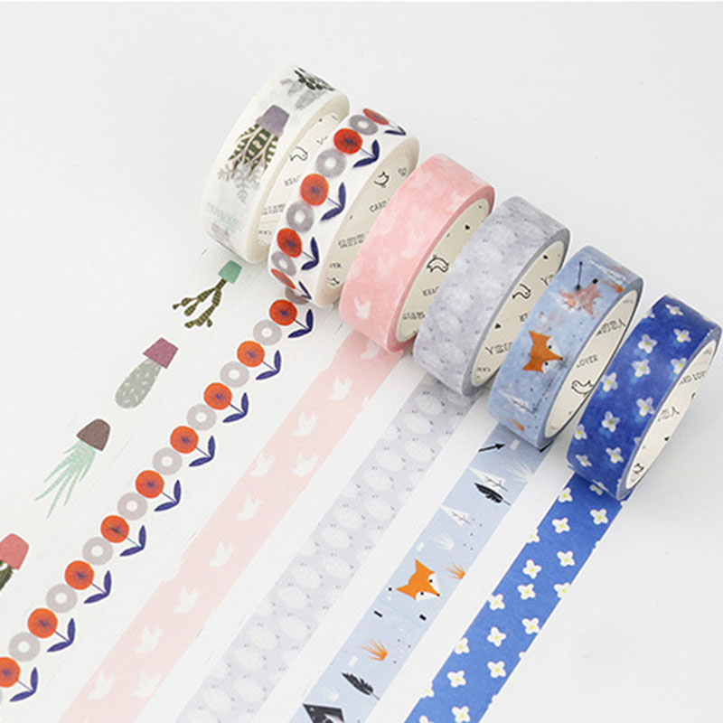 15mm x 7m Nordic style Washi Tapes DIY decoration tape scrapbooking planner masking tape office adhesive tape label stationery 1 x nordic series 1 5cm x 7m kawaii washi tape children diy diary decoration masking tape stationery scrapbooking tool
