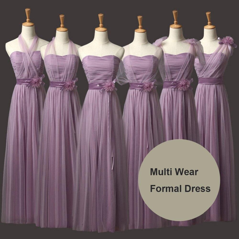 Moderno Vestido De La Dama De Honor Púrpura Del Cordón Ideas ...
