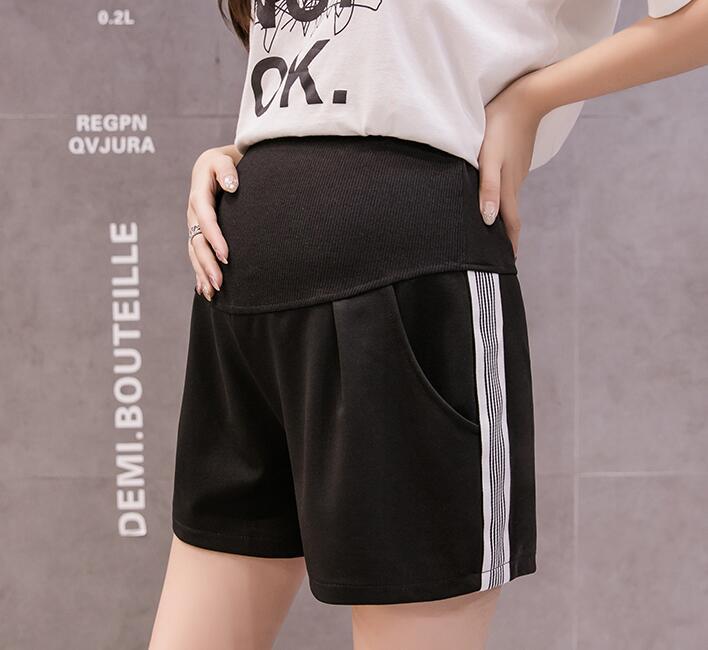 Лидер продаж, летние шорты для беременных женщин, хлопковые Лоскутные кружевные шорты с высокой талией, шорты для беременных, милые короткие штаны - Цвет: 966n