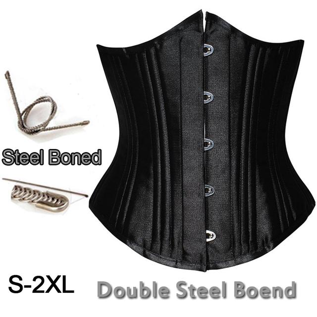 Top Quality Sexy 26 Duplo De Aço Desossada Espartilho Pesados Trainer Cintura Corset Bustier Shaper Corpo Quente Plus Size S-2XL