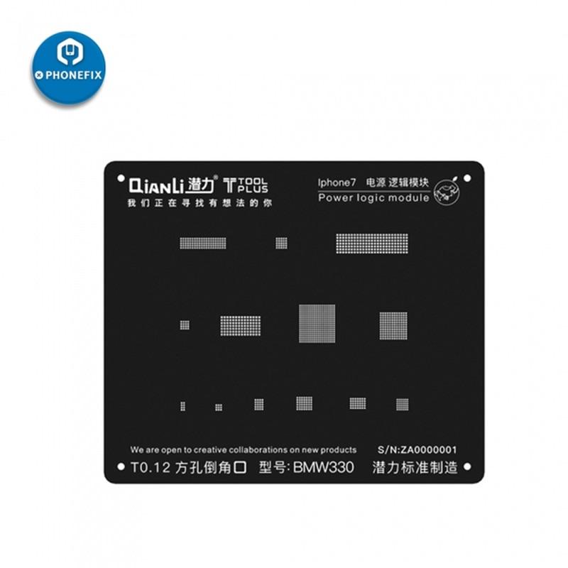 PHONEFIX QianLi iBlack 3D BGA Reballing Stencil Power Logic IC Chips Repair Tool for iPhone 5 5S 6 6S 7G 7Plus 8 8PPHONEFIX QianLi iBlack 3D BGA Reballing Stencil Power Logic IC Chips Repair Tool for iPhone 5 5S 6 6S 7G 7Plus 8 8P