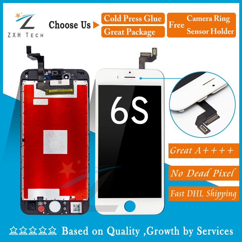 5PCS LOT Perfect 3D Touch 100 Test Quality For iPhone 6s LCD Complete Display Screen Touch