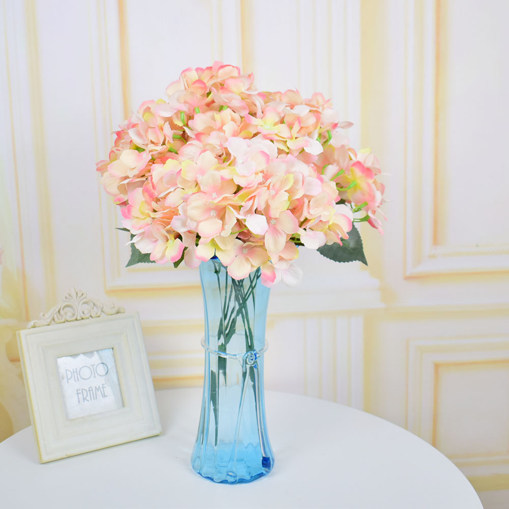 Artificial Flowers Silk Hydrangea Bouquets For Home Wedding Table