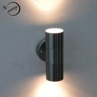 Moderna lâmpada de parede para cima para baixo/IP44 halogênio jardim ao ar livre lâmpada de parede à prova d' água/Mini Lâmpada de Parede Ao Ar Livre/varanda iluminação