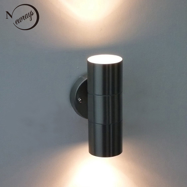Modern wall lamp up downwaterproof ip44 outdoor halogen garden wall modern wall lamp up downwaterproof ip44 outdoor halogen garden wall lamp mini outdoor aloadofball Image collections